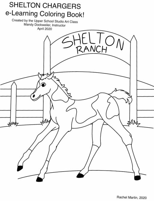 Studio Art Students Create Shelton Chargers e-Learning Coloring Book